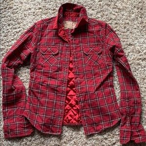 Abercrombie XS Lined Flannel